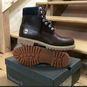 Timberland Waterproof Burgundy Leather Boot Sz 10